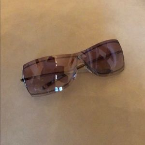 Gucci Pink and Silver Sunglasses